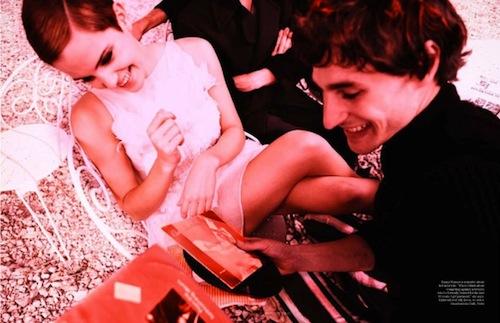 emma watson vogue shoot. Emma Watson in Decembe#39;s Vogue