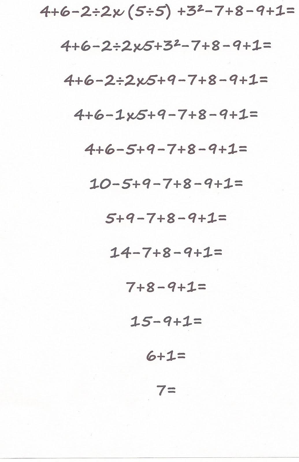 7-09: B.E.D.M.A.S question