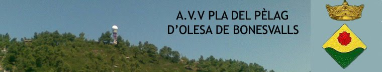 A.V.V PLA DEL PÈLAG D' OLESA DE BONESVALLS