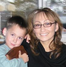 Min søn Nikolai og mig.