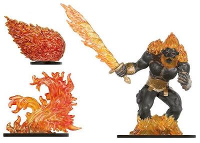 Newer fire-themed D&D Miniatures