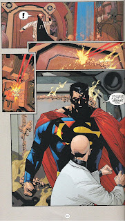 Superman: Birthright sample page of Superman confronting Lex Luthor