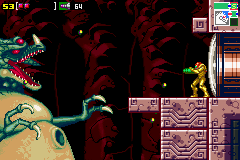 Metroid: Zero Mission screenshot: Battle with Kraid