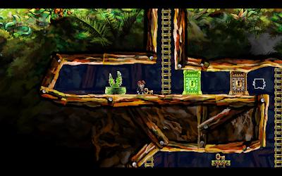 Braid gameplay screenshot: underground