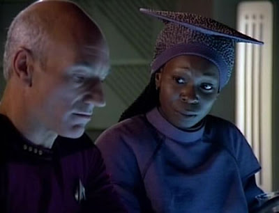 Guinan and Picard from Star Trek: The Next Generation