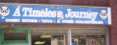 A Timeless Journey store sign