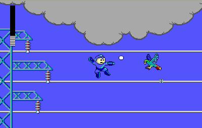 Screenshot of Volt Man's stage in Mega Man (PC)