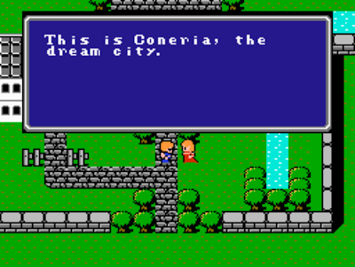 Original Final Fantasy Coneria town screenshot