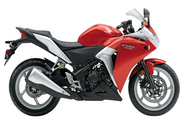 2011 Honda CBR250R Red Silver