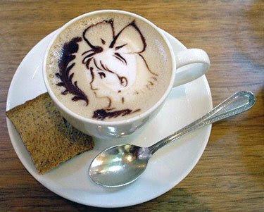 Dibujo en cafe