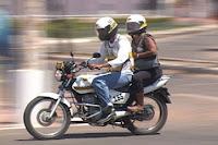 Moto taxi em ação