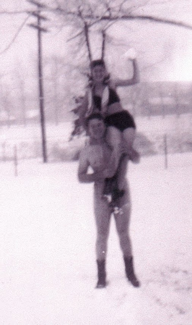 My parents, Rosemary and Cal - Yes, my dad has a swimming suit on!! ;-)