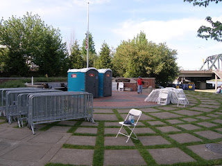 port a potties on law enforcement memorial