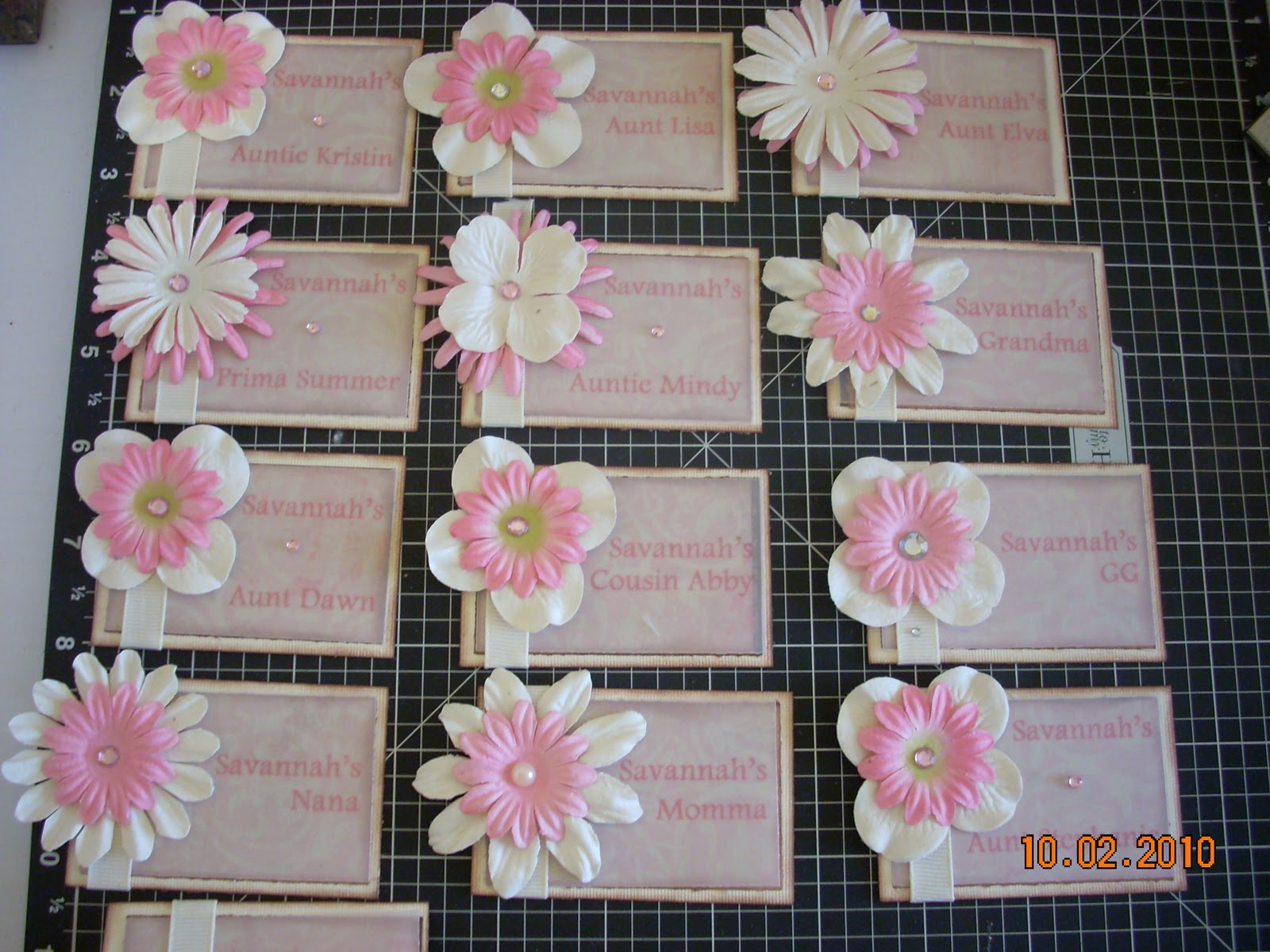 finally finished the baby dedication nametags i think they turned