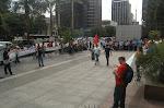 Ato na Av. Paulista dos bancários em greve sem o apoio do sindicato