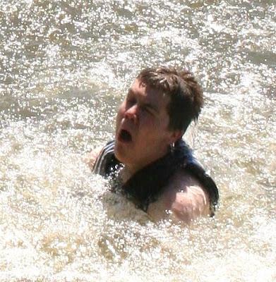 swimming in Lake Gaston