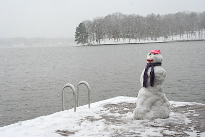 Lake Gaston snowman