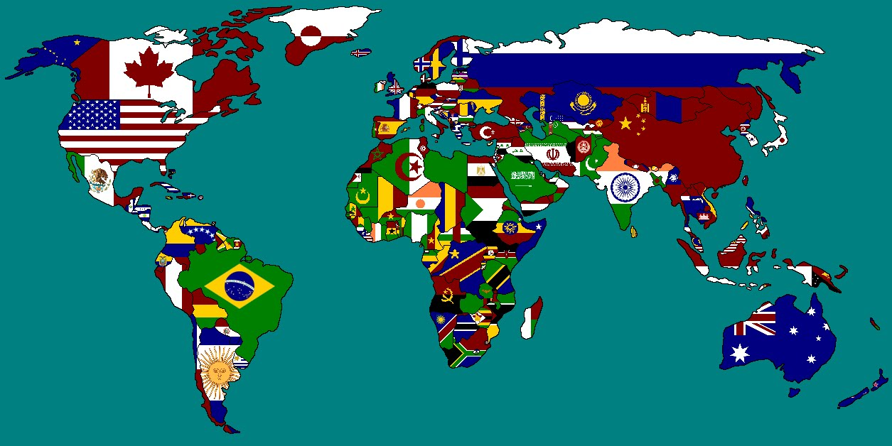 Multi National Flag Maps Multi National Flag Maps