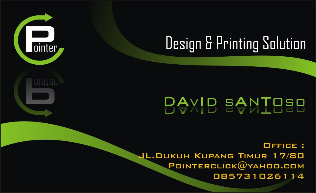 Merupakan contoh desain kartu nama (desain + cetak Rp 55.000)