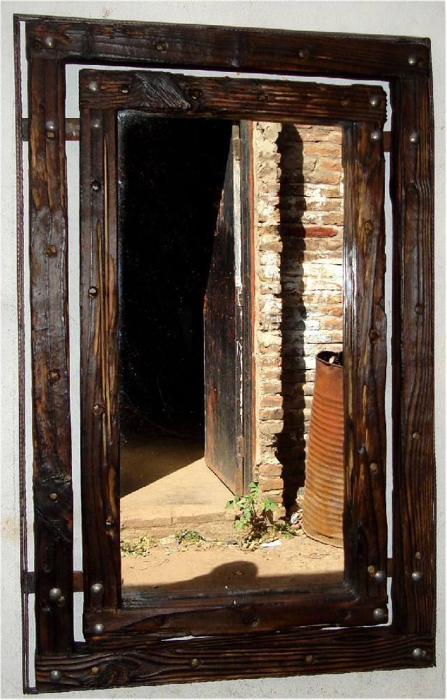 Espelhos rusticos em madeira wood second chance - Espejos etnicos ...