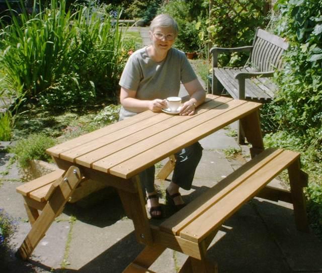 banco de jardim mesa