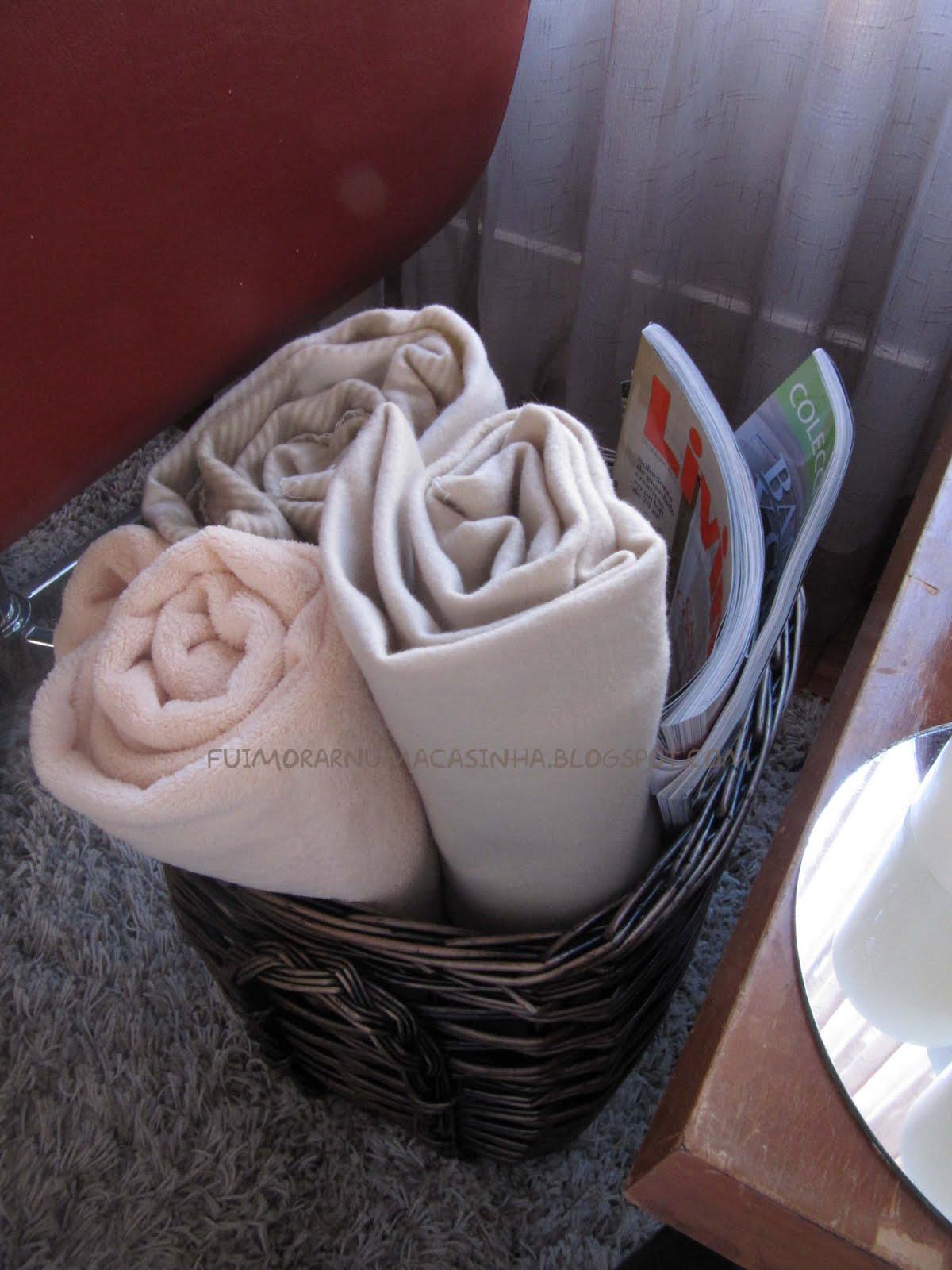 Fui morar numa casinha prepare sua casa para o inverno - Cesto para mantas ...