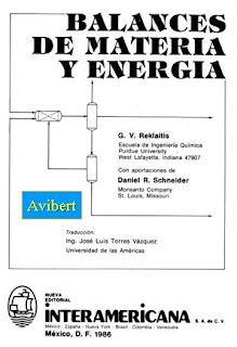 Balances de Materia y Energía - Reklaitis