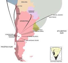 Proyección geográfica de zapala