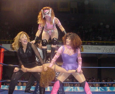 Luchadoras: Tiffany, Princesa Sugey,Miss Janeth and Sahori