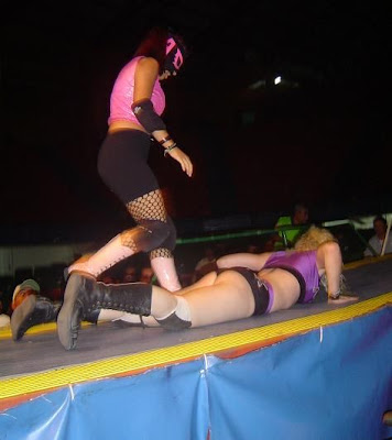 Nikki Roxx and Arianna in Wrestling in Mexico