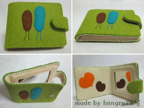 sevimli keçe cüzdan