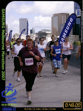 Almost finished the 5.5km in the Melbourne Marathon