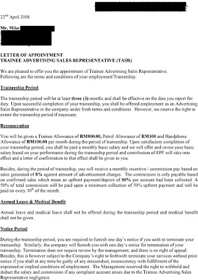 Sales Offer Letter Sales Account Executive Offer Letter