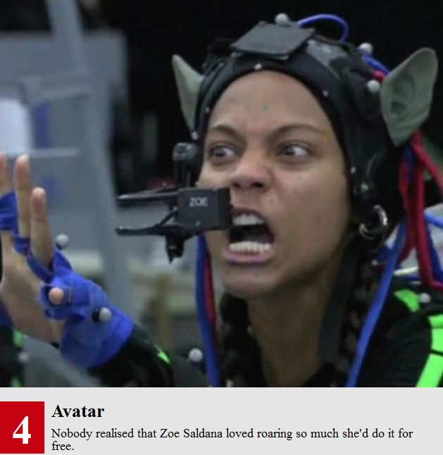 Zoe Saldana Avatar Behind The Scenes