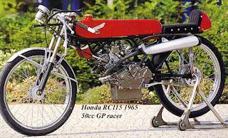 The Velobanjogent  Honda 50cc Racers   RC112 RC113  RC114 RC115