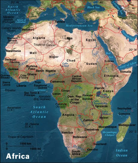 Gacekblog Geo Quiz Africa Physical Features - Map of africa physical