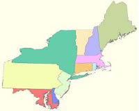 Gacekblog Geo Quiz Northeast US Cities - Northeast region us map