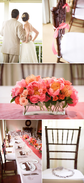 Accent Decor, Inc Products used in modern pink and orange wedding design