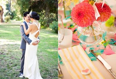 Pretty vintage style wedding using Orbit Vase from Accent Decor