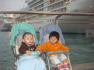 Shots of Kowloon Island Trip:Babies at Star ferry @ Kowloon