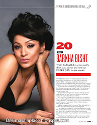 Barkha Bisht - Bikini Top and Shorts at FHM Dec 2010 Photoshoot