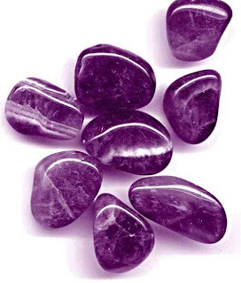 batu permata kecubung ungu kasar