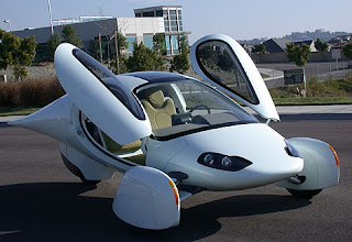 Aptera electric car 8 doors up