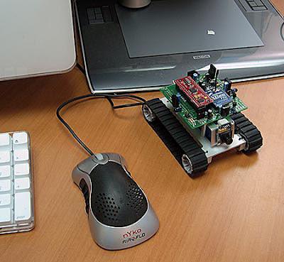 SRV-1 Mobile Surveillance Robot