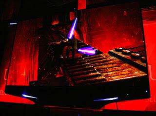 Laser tv red color image