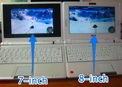 Prototype 8 inch Asus Eee PC pics