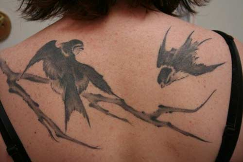 20 Branch 2 Birds Tattoo Tattoos Ideas And Designs