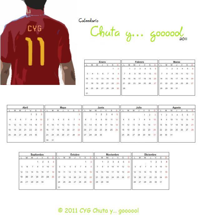 Calendario Chuta y Gol 2011