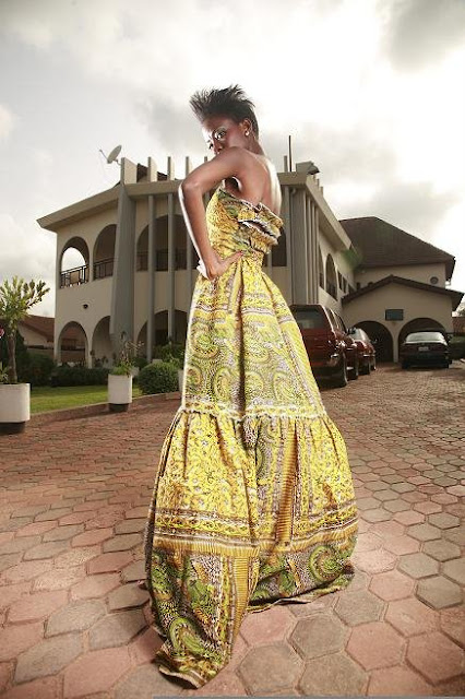 n'kya designs, wax print dress, african fashion