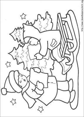 natal 89 Para colorir Natal para crianças